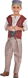 Aladdin Costume for Children, Includes a Shirt, Pants, a Hat, a Belt, and an Attached Vest