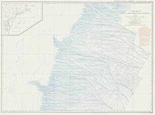 Map - United States - East Coast Coastal Slope East Of Chesapeake Bay Entrance, USA, 1938 NOAA Bathymetric Map - Vintage Wall Art - 44in x 33in