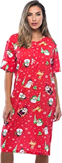 Short Sleeve Nightgown Holiday Sleepwear