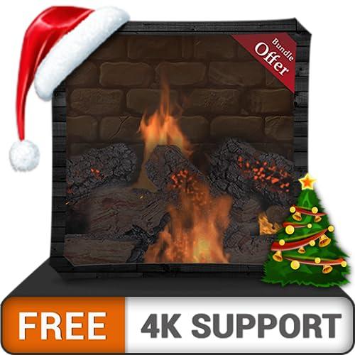 Kostenloses Lagerfeuer-Kaminpaket HD - genießen Sie die gekühlten Weihnachtsferien im Winter auf Ihrem HDR 4K-Fernseher, 8K-Fernseher und Feuergeräten als Hintergrundbild und Thema für Mediation und F