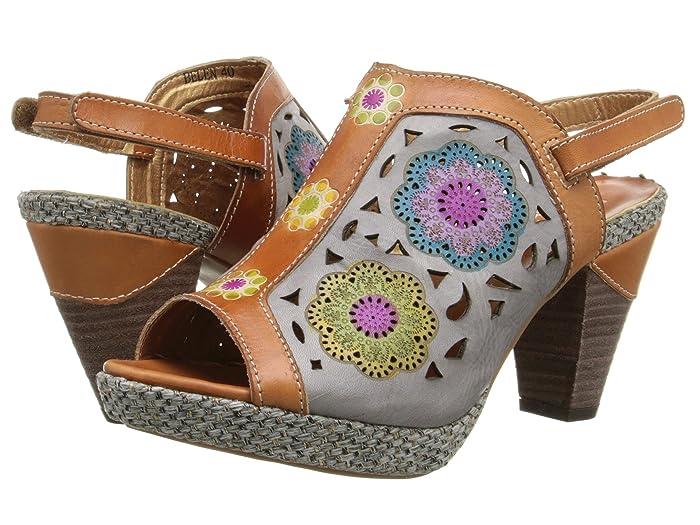 70s Shoes, Platforms, Boots, Heels LArtiste by Spring Step Belen Camel Womens Sandals $99.95 AT vintagedancer.com