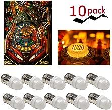 10 LED Pinball BULBS 4 SMD LED 6.3V Ba9s WHITE #44 #47 light stern williams ring