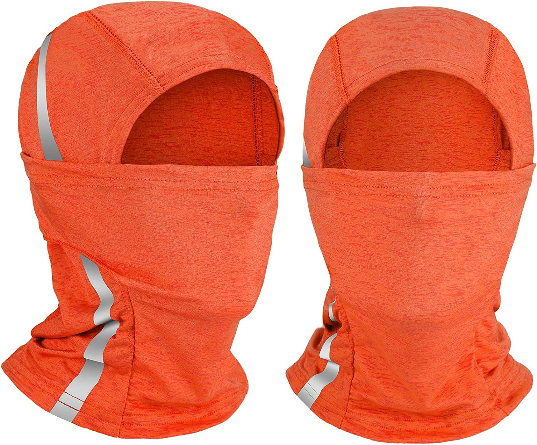 2 Pieces Reflective Full Face Cover Sun Protection Balaclava Safety Neck Gaiter