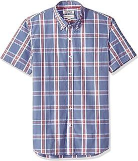 Amazon Brand - Goodthreads Men's Standard-Fit Short-Sleeve Large-Scale Plaid Shirt