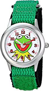 Kids' W001623 The Muppets Kermit Stainless Steel Watch with Nylon Strap