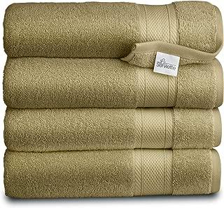 Luxury Hotel & Spa Quality Bath Towel Turkish Cotton, Cotton for Maximum Softness & Absorbency (4 Pack - Bath Towel 28×54, Green)