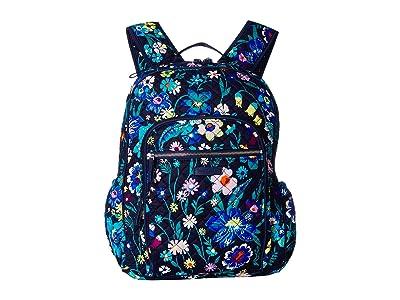 Vera Bradley Iconic Campus Backpack (Moonlight Garden) Backpack Bags