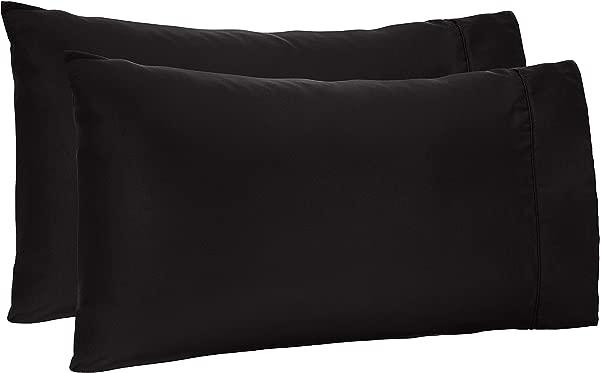 AmazonBasics Microfiber Pillowcases Set Of 2 Standard Black