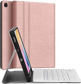 حافظة لوحة المفاتيح لسامسونج جالاكسي تاب S6 لايت 10.4 بوصة، حافظة JUQITECH ة مع لوحة مفاتيح لجهاز Galaxy Tab S6 Lite 2020...
