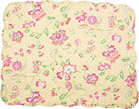 Yellow Pink Orange Coral Strawberry Pink Green Batik Fabric Set of 6 Quilted Cloth Placemats Reversible Placemats Table Placemats