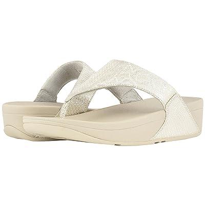 FitFlop Lulu Python Print Toe Thong Sandals (Urban White) Women