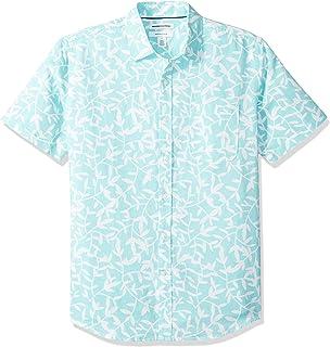 Amazon Essentials Men's Regular-Fit Short-Sleeve Linen Cotton Shirt