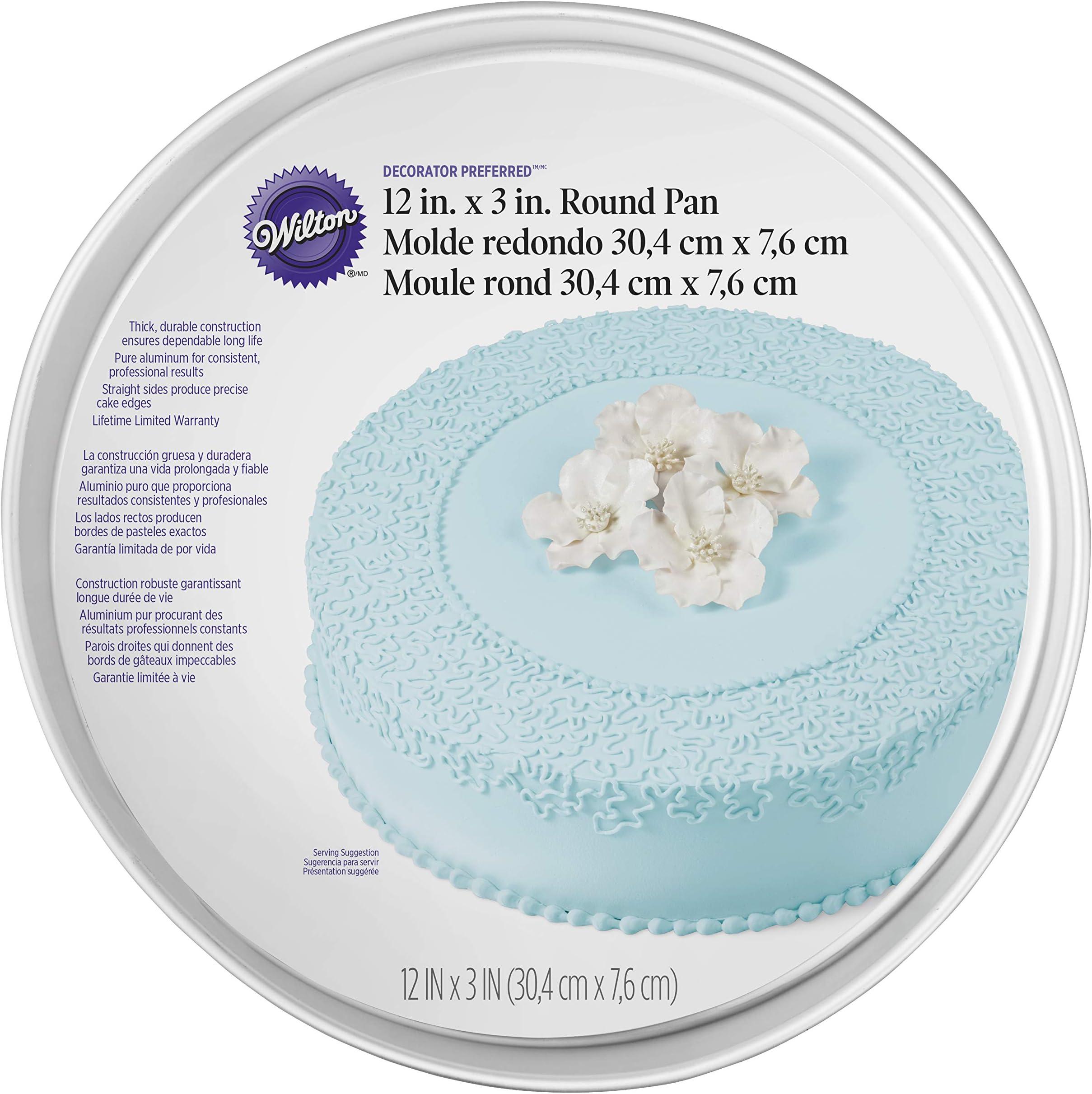 Wilton Decorator Preferred Aluminum Round Cake Pan, 3 x 12 inch