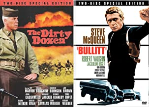 The Dirty Dozen SPECIAL EDITION & Bullitt 2 Disc DVD Pack Military Movie Action Set