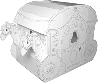 My Very Own House Cardboard Coloring Playhouse Princess Carriage, 40