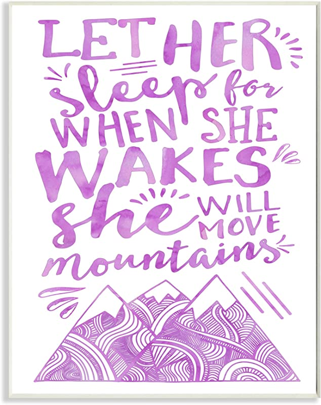 The Kids Room By Stupell Let Her Sleep Purple Mountains Wall Plaque Art