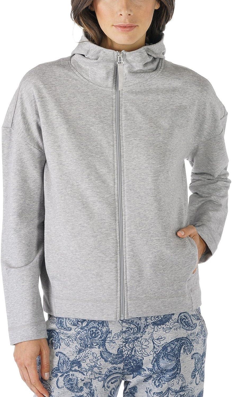 Mey 16800439 Women's Night2Day Melange Grey Pajama Long Sleeve Pyjama Top