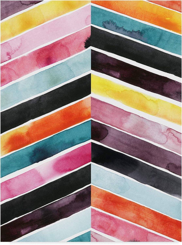Trademark Fine Art Vivid Watercolor Chevron I by Grace Popp, 14x19