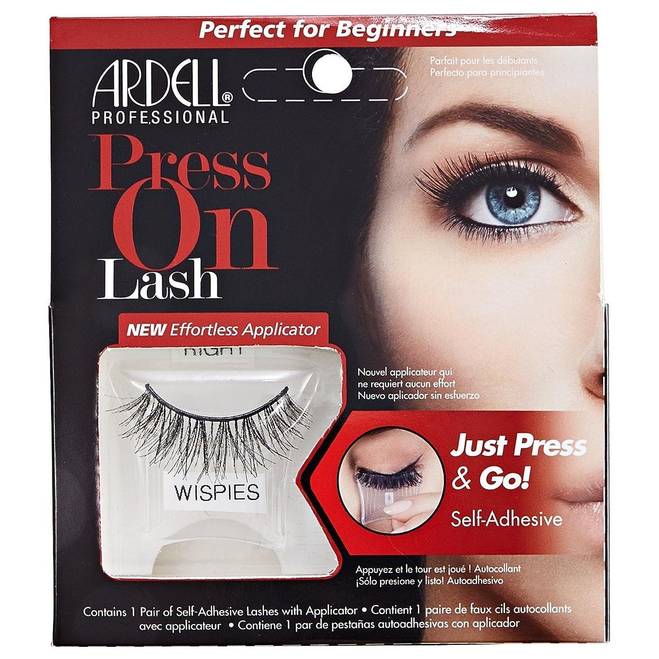 テンポ液化する有害Ardell Press On Lashes Self-Adhesive - Wispies Black