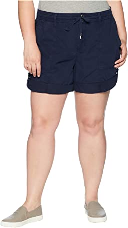 Plus Size Cotton Twill Shorts