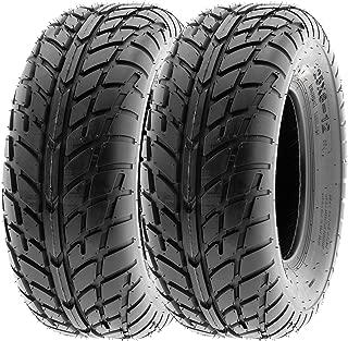 SunF 25x8-12 25x8x12 ATV UTV Sport Race Replacement 6 PR Tubeless Tires A021, [Set of 2]