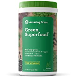 Amazing Grass Green Superfood: Organic Wheat Grass and 7 Super Greens Powder, 2 servings of Fruits &