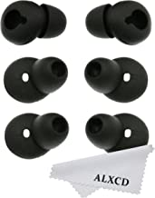 ALXCD Eargel for Gear Circle SM-R130, 3 Pair Medium Anti-Slip Durable Silicone Replacement Ear Tip Earpads, Fit for Samsung Gear Circle Bluetooth Earphone SM-R130 [Black] (3 Pair)