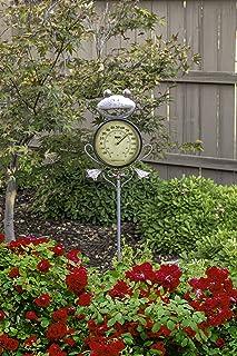 Poolmaster 54582 Outdoor Thermometer Garden Stake, Frog, Multi