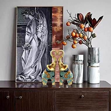 SUGUTEE Good Luck Large Elephant Statue Decorations for Home, Elephant Figurines Statues Home Decor, Elephant Gifts, Elephant