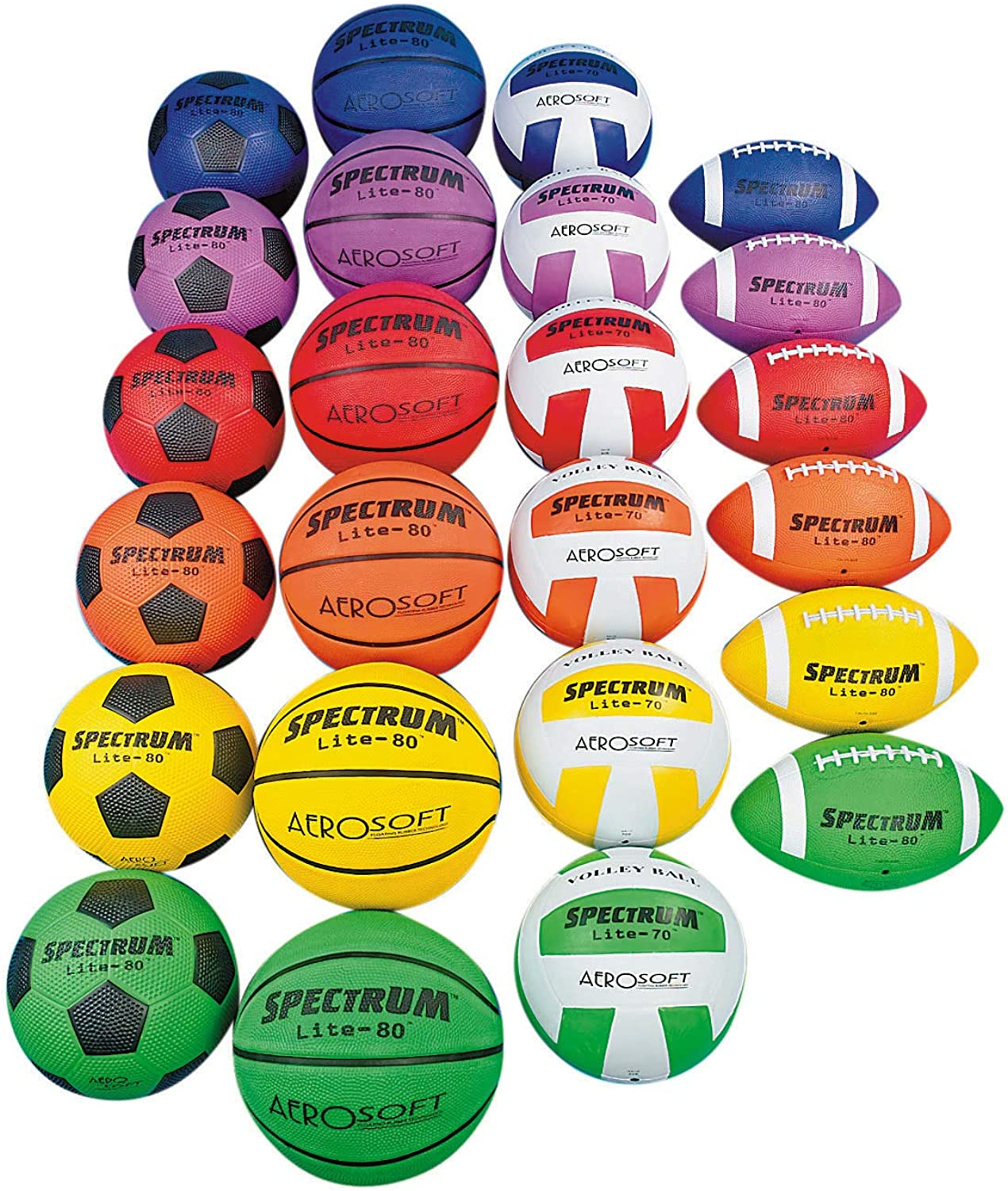 S&S Worldwide Lite Sports Ball Pack (Pack of 24)