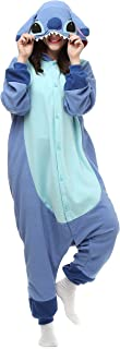 Adult Stitch Onesie Animal Pajamas Halloween Cosplay Costumes Party Wear Blue