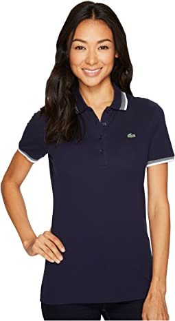Lacoste - Short Sleeve Semi Fancy Stretch Mini Pique Polo