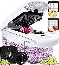 Fullstar Vegetable Chopper - Spiralizer Vegetable Slicer - Onion Chopper with Container - Pro Food Chopper - Slicer Dicer Cutter - 4 Blades
