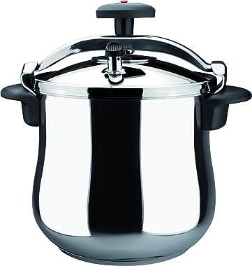 Magefesa 01OPSTABO10 Star B Stainless Steel Fast Pressure Cooker, 10-Quart