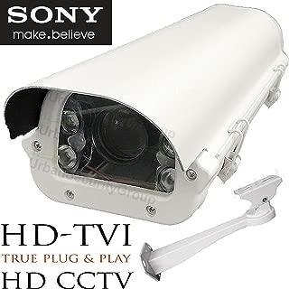 Urban Security Group 2MP 1080P License Plate Recognition LPR Capture Bullet Security Camera : 5-50mm Vari-Focal HD Lens : 4X Array Infrared LEDs : HD-TVI, HD-CVI, AHD, Analog BNC, Business Grade