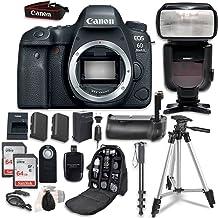 Canon EOS 6D Mark II Digital SLR Camera Bundle (Body Only) + Professional Accessory Bundle (14 Items)