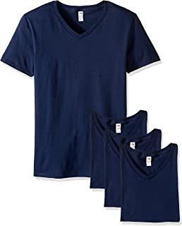 Fruit of the Loom Men's V-Neck T-Shirt (4 Pack)