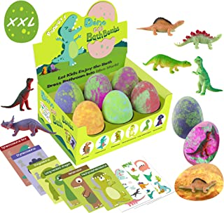 Bath Bombs for Kids with Surprise Toys Inside - XXL Dinosaur Toys Bath Bomb Gift, Gentle and Kids Safe Spa Bath Fizz Balls...