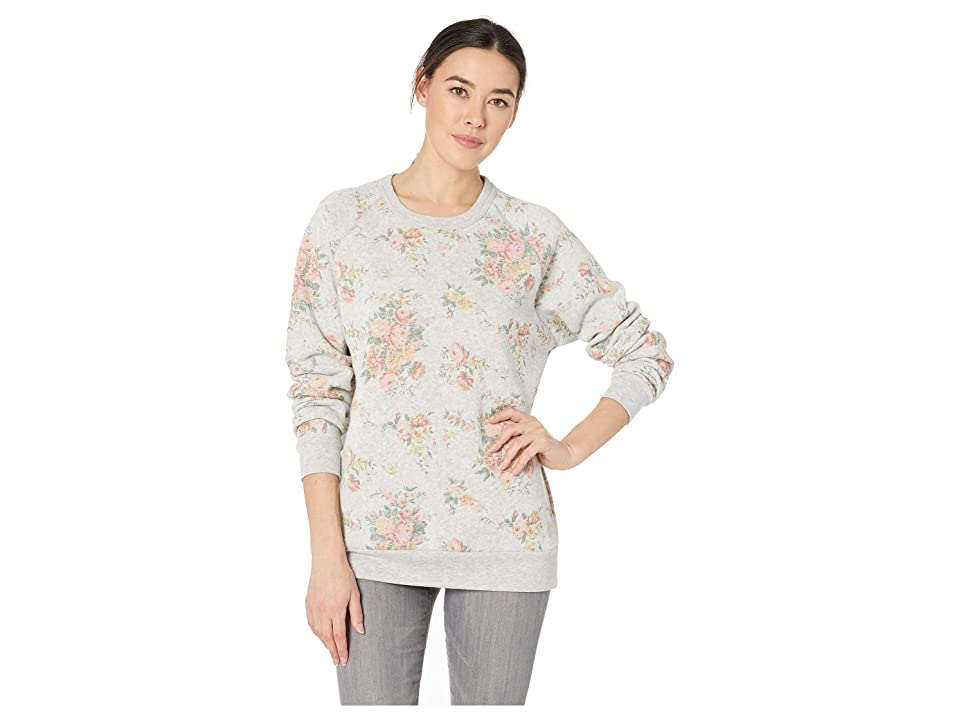 Alternative The Champ Long Sleeve Eco-Fleece (Eco Oatmeal Country Floral) Women