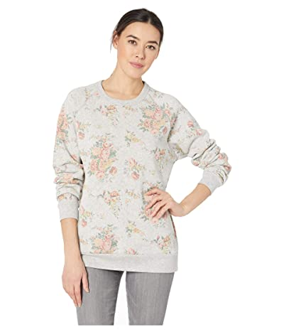 Alternative The Champ Long Sleeve Eco-Fleece (Eco Oatmeal Country Floral) Women
