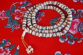 Tibetan Embedded Yak Bone Mala 108 Beads for Meditation BM09