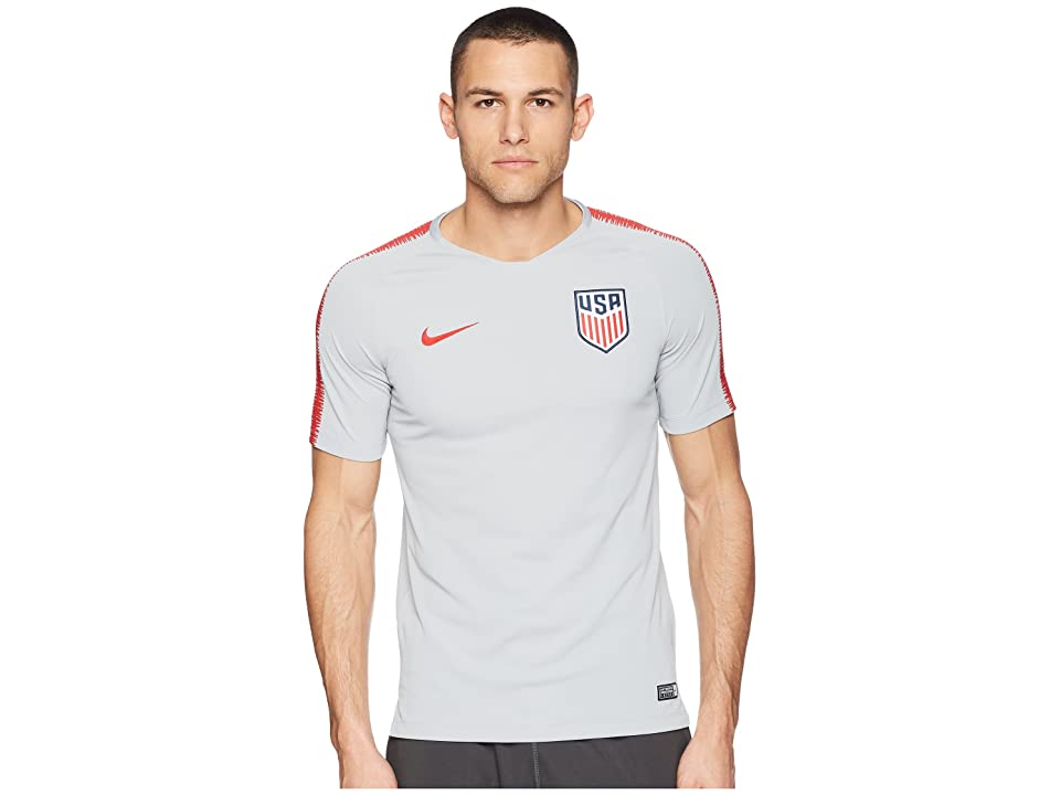 Nike USA Breathe Squad Top Short Sleeve (Wolf Grey/University Red/University Red) Men