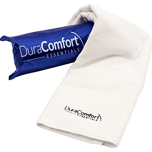 """Deluxe Large Anti-Frizz Microfiber Hair Towel By DuraComfort Essentials - Ultra Absorbent & Lightweight - Instant-Dry Technology - For Straight, Curly & Wavy Hair - 41"""" x 19"""""""