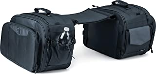 Kuryakyn 5209 Momentum Outrider Expandable Motorcycle Travel Luggage: Weather Resistant Throw-Over Saddlebags,  Black