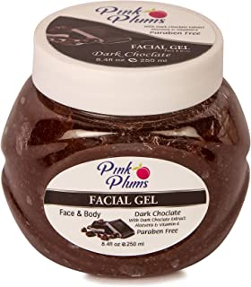 PINK PLUMS Glowing Dark Chocolate Facial Gel with Vitamin-E, 250 ml