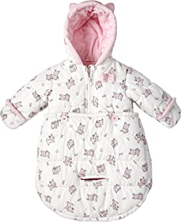 London Fog Newborn Infant Baby Girl Boy Puffer Carbag Pram Bag Snowsuit Bunting