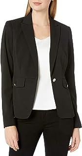 Calvin Klein Women's Scuba Crepe One Button Jacket