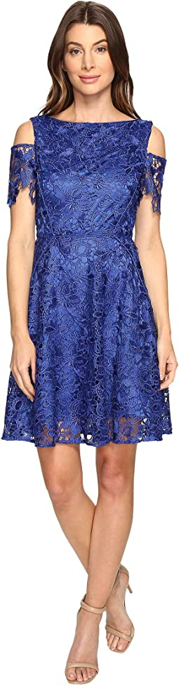 Cold Shoulder Lace A-Line Dress