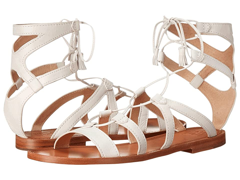 Frye Ruth Gladiator Short Sandal (White Soft Full Grain) Women