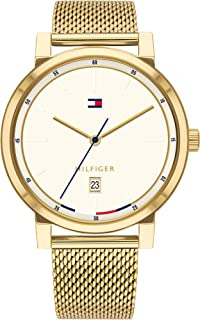 Men's Quartz Watch with Gold Tone Stainless Steel Strap, 20 (Model: 1791733)